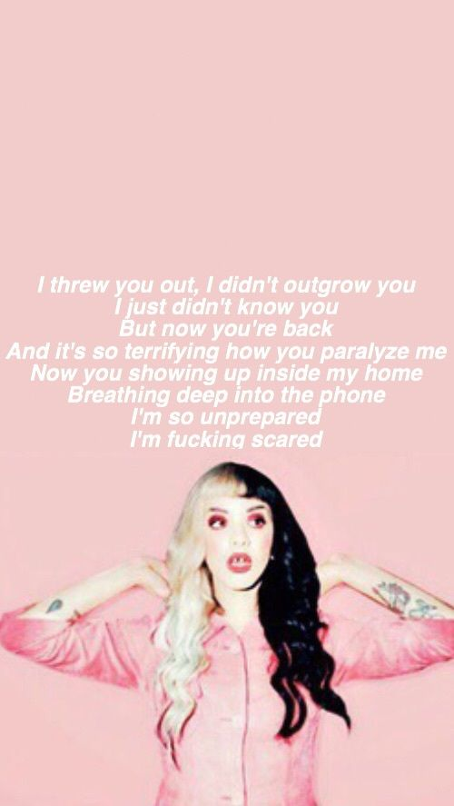 Image de Lyrics, pink, and wallpaper Cry Baby ️