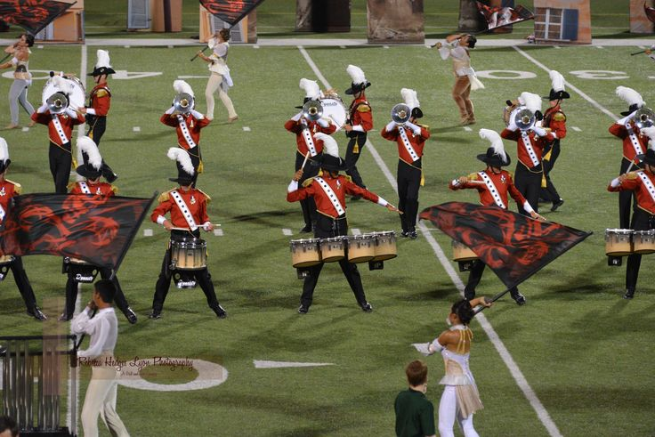 Santa Clara Vanguard, Round Rock, Texas, DCI Tour of Champions, 2013 - I love these flags