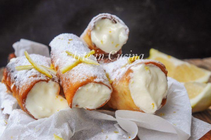 Cannoli alla sorrentina con crema al limone vickyart arte in cucina