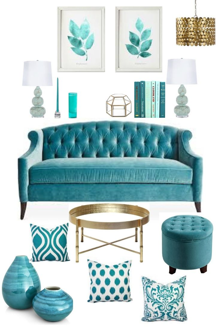 Teal Expensive Looking Room Decor On A Budget Teal Room Decor Teal Sofa Living Room Teal Living Rooms #teal #and #gold #living #room