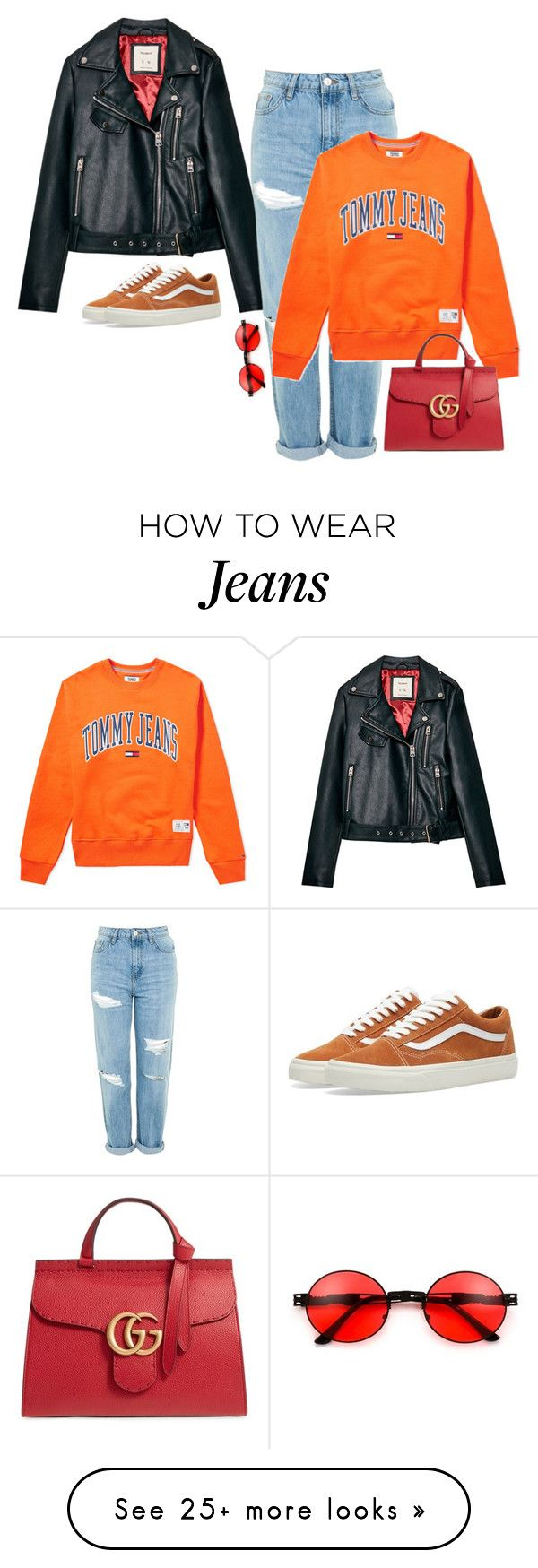 """""""Untitled #1007"""" by sofiy112 on Polyvore featuring Topshop, Tommy Hilfiger, Gucci and Vans"""