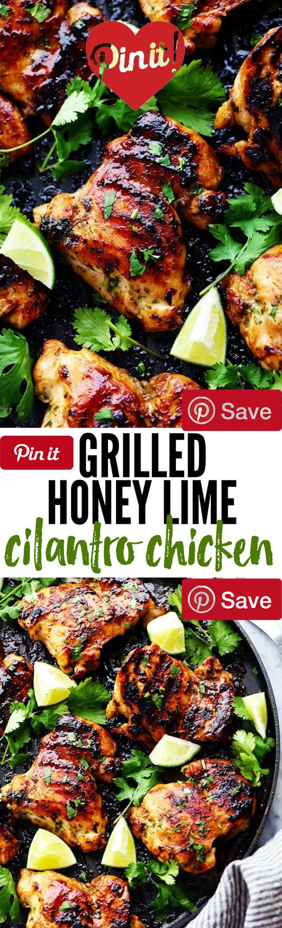 Grilled Honey Lime Cilantro Chicken Gluten free Meat chickenz 2 lbs Chicken breasts boneless skinless Produce cup Cilantro 2 Garlic cloves Condiments cup Honey cup Lime juice 2 tbsp Soy sauce Baking & Spices tsp Pepper tsp Salt Oils & Vinegars 1 tbsp Olive oil