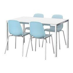 torsby leifarne table and 4 chairs glass white light blue ikea dining