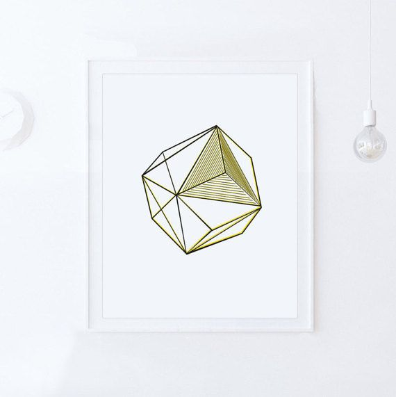 Geometric Print-DIGITAL DOWNLOAD-Printable Wall by ModeaPrints