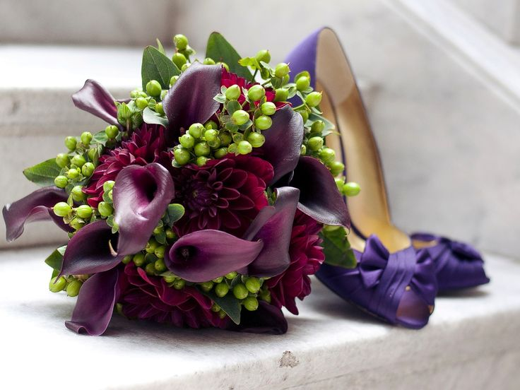 Purple Green Wedding Flowers Calla Lily Bouquet Utah Calie Rose