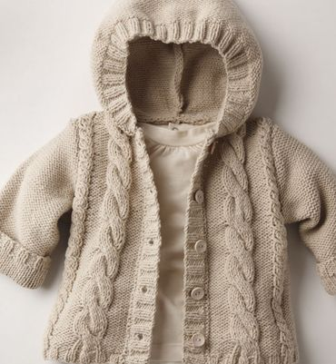 love this knitted hoodie