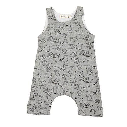 2c8563c75 Sharemen Summer Baby Boys Dinosaur Print Sleeveless Romper One-Piece ...