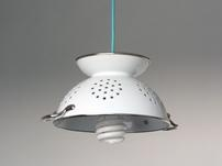 Witte vergiet hang lamp
