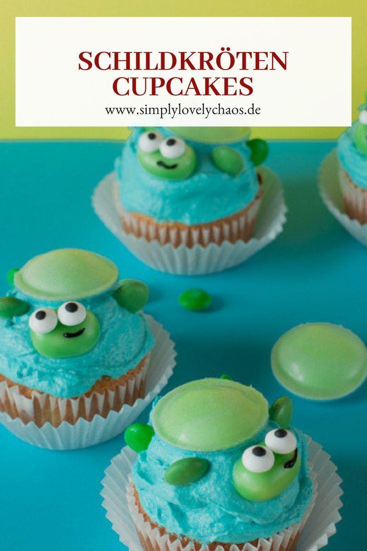 Rezept für Turtles Cupcakes. Tolle Idee für Kindergeburtstag zum Thema: …   – Kindergeburtstag: Deko, Rezepte, Spielideen, Einladungskarten