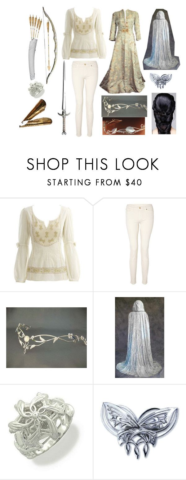 """""""elven"""" by hansolos ❤ liked on Polyvore featuring Monsoon, 7 For All Mankind, TIARA and S.W.O.R.D."""