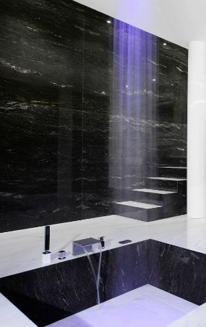 Antolini | SIgnature Stone-Black Cosmic @natureofmarble can make this your reality!