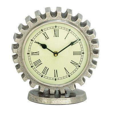 Cole & Grey Aluminum Table Clock