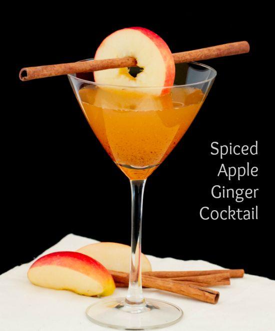 Spiced Apple Ginger Cocktail