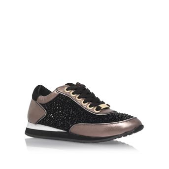 Lemmy Black Flat Low Top Trainers from Carvela Kurt Geiger