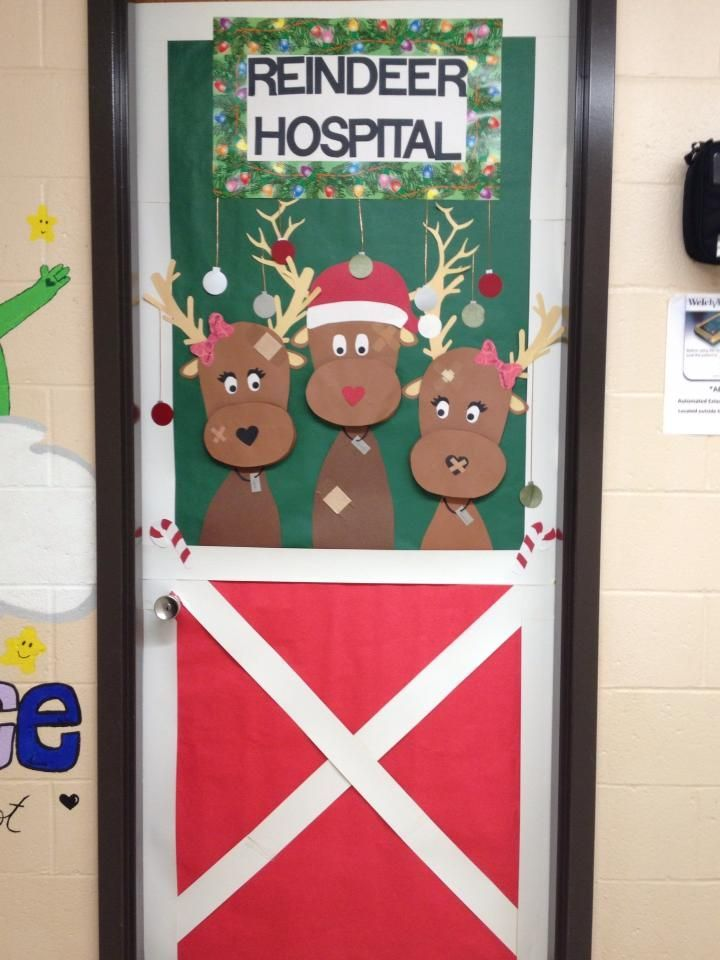 School Nurse Office December Nurses Door Love This I M Not Creative Enough Though Winter Boards And
