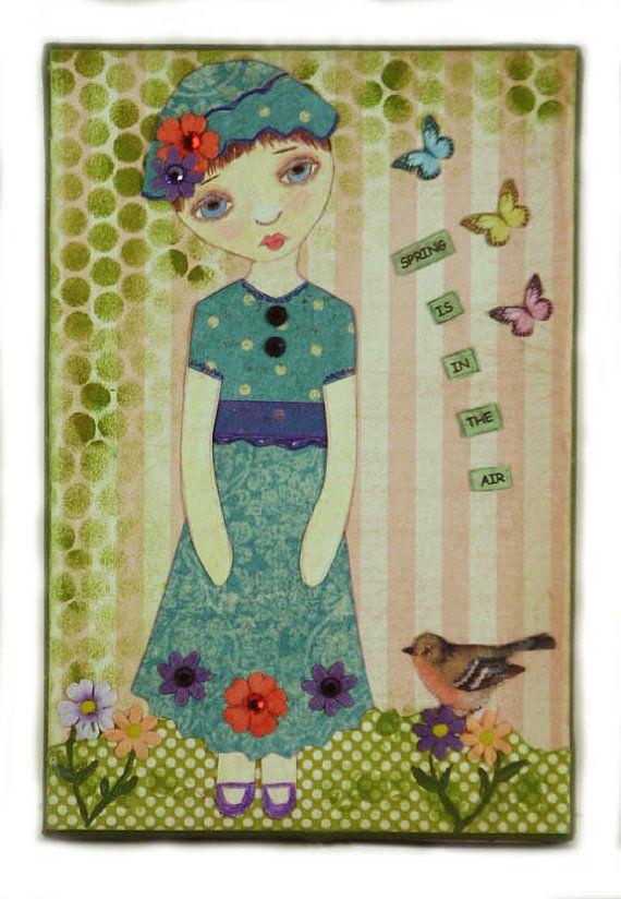 Whimsical Wall Art 114 best children images on pinterest | folk art, mixed media