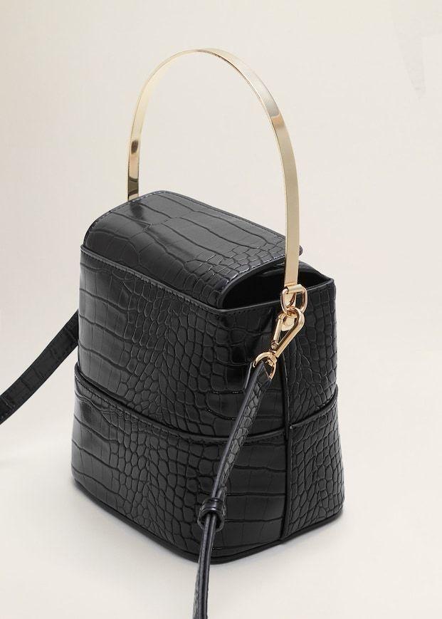 9e604fdae36 Croc-effect bucket bag - Women in 2019   Bags   Bags, Bucket bag, Crocs