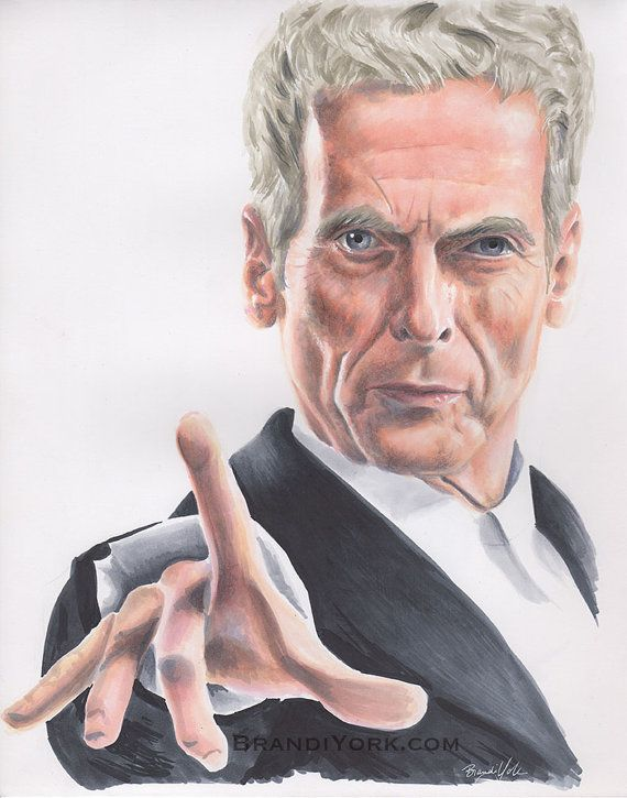 The Doctor, Twelfth  - Print - Doctor Who Peter Capaldi Copic Drawing