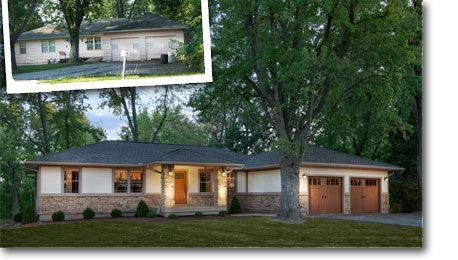 Complete Exterior Renovation From Boring Ranch Style To A