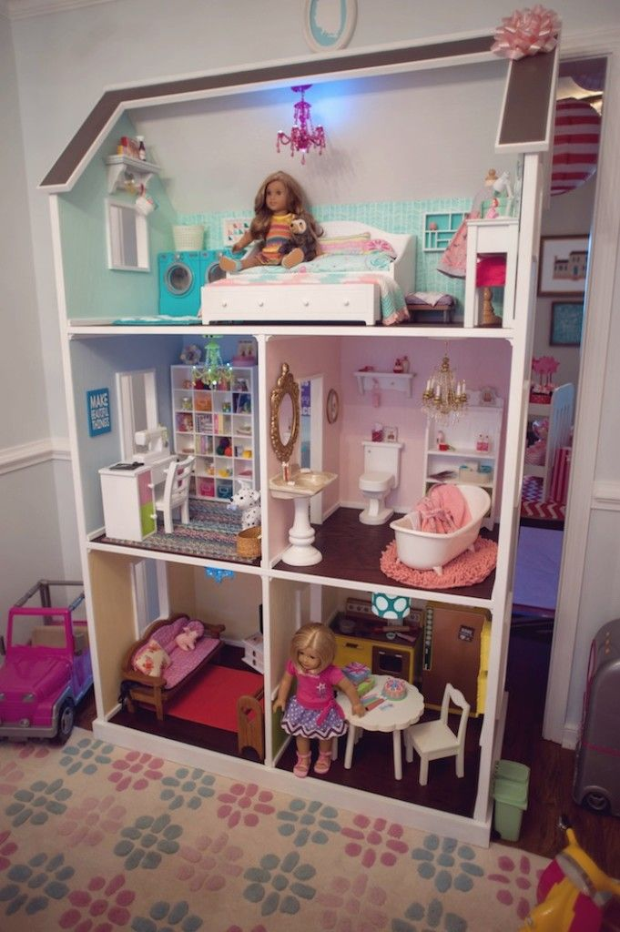 Doll House from an American Girl Doll Themed Birthday Party via Karas ...