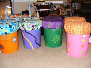 8 seats made from home depot 5 gallon buckets several for Home depot arts and crafts