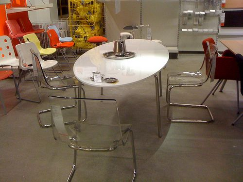 ikea clear | Ikea Dinner Table & Clear Chairs