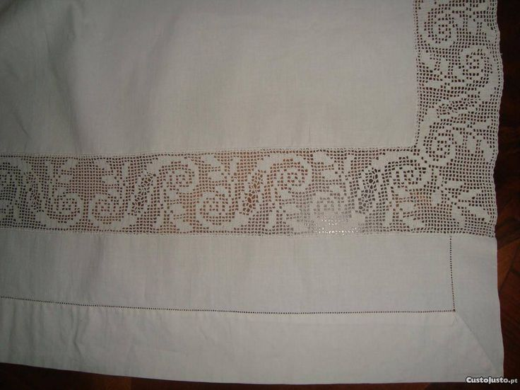 entremeios de renda para lençol - Pesquisa Google
