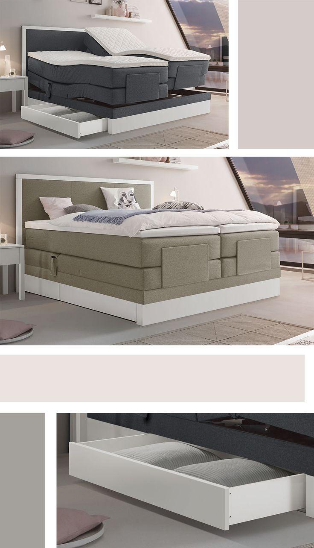 die besten 25+ boxspringbett mit motor ideen auf pinterest ... - Schlafzimmer Betten Mit Bettkasten