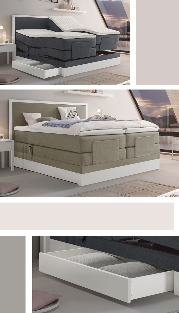 best 20 boxspringbett wei ideas on pinterest boxspring. Black Bedroom Furniture Sets. Home Design Ideas
