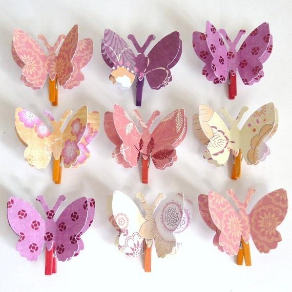 clothes pin butterflies.