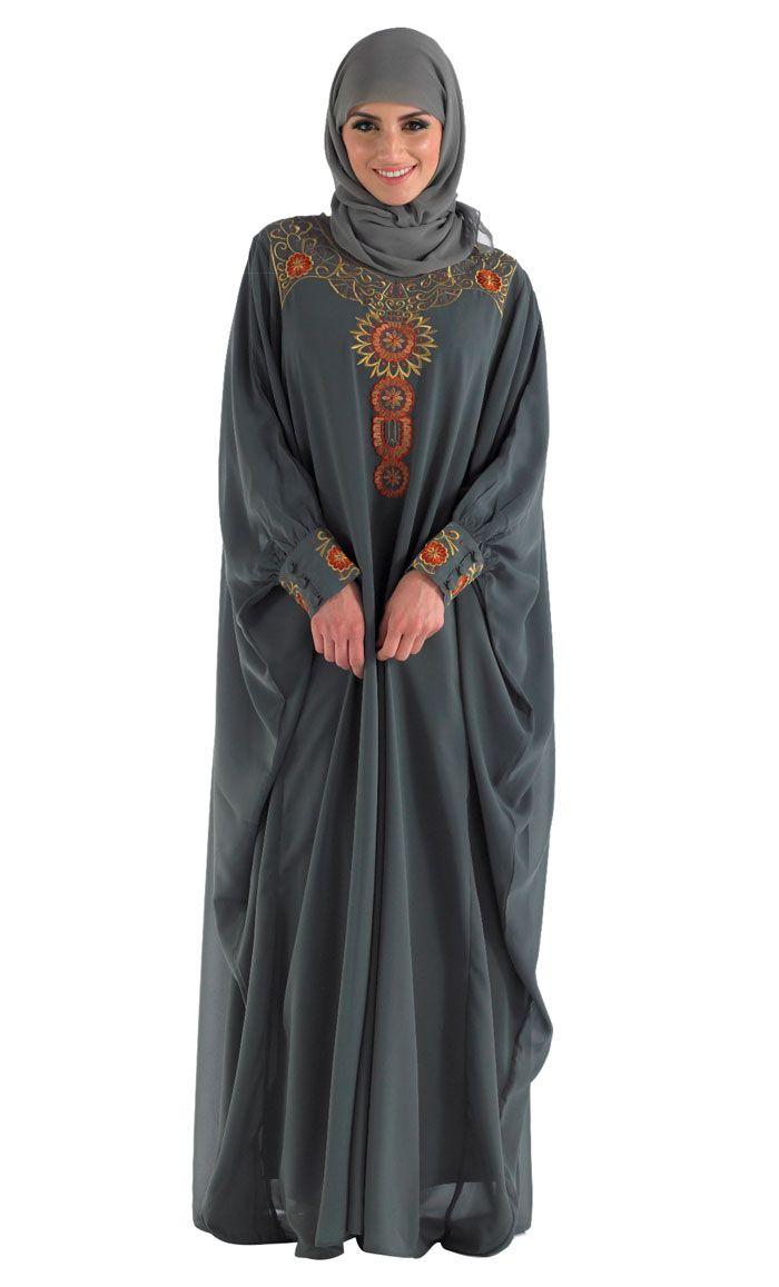 Modest Grey Eid Kaftan