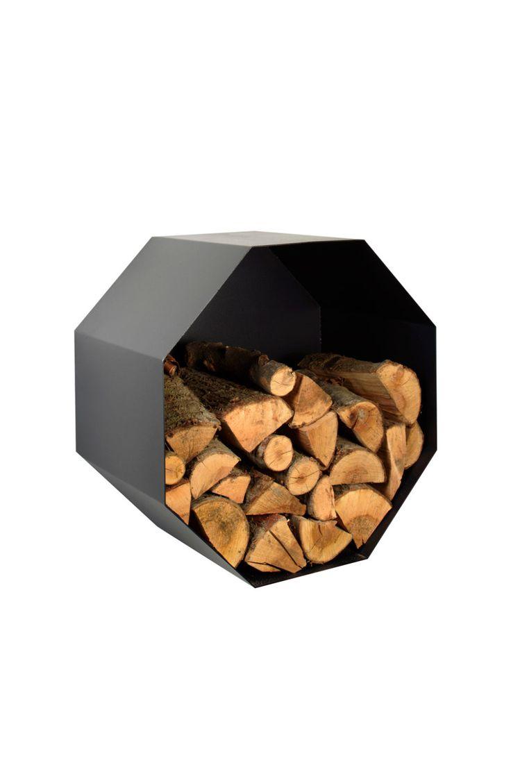 Metal Firewood Holder - Octagon by KureliDesign on Etsy