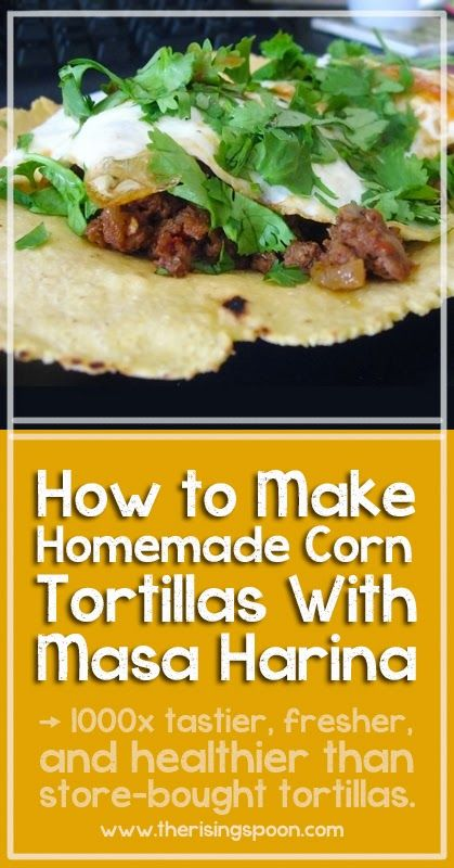 Learn how to make easy homemade corn tortillas using masa harina (corn flour) with these simple step-by-step instructions. These have so much more flavor than store-bought tortillas!