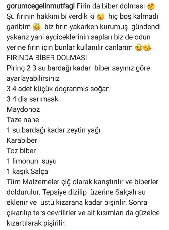 FIRINDA BİBER DOLMASI