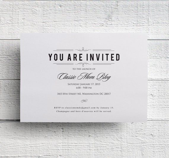 professional business invitations templates