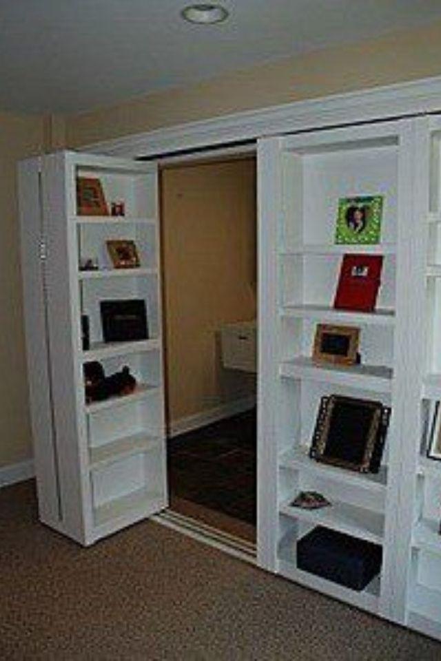 Closet doors good idea for non walk in closets bedroom for Hidden door ideas