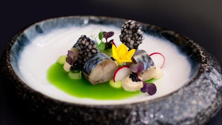 Makreel, pandan, bleekselderij, appel #restaurant #amsterdam #senses  http://www.sensesrestaurant.nl/nl/fotos.html