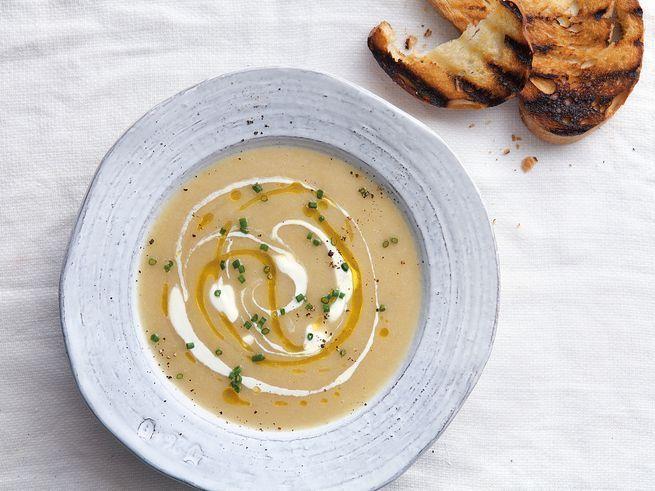 Chilled Mexican Potato and Leek Soup (Sopa de Poro y Papa)