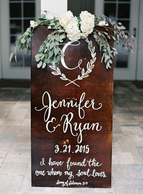 Wood Sign Design Ideas wood sign design ideas wood sign decor home decore inspiration 100 Clever Wedding Signs Your Guests Will Get A Kick Out Of