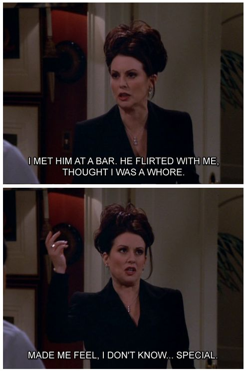 Karen Walker Quotes to Rosario | Karen Walker on Love: