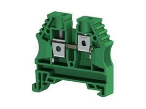 Electrical Terminal ,6mm2,screw type,single deck feed through terminal block,Insulation material PA,Green
