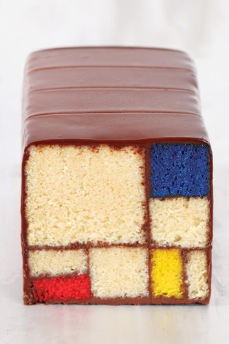 An Art gallery's Mondrain loaf cake