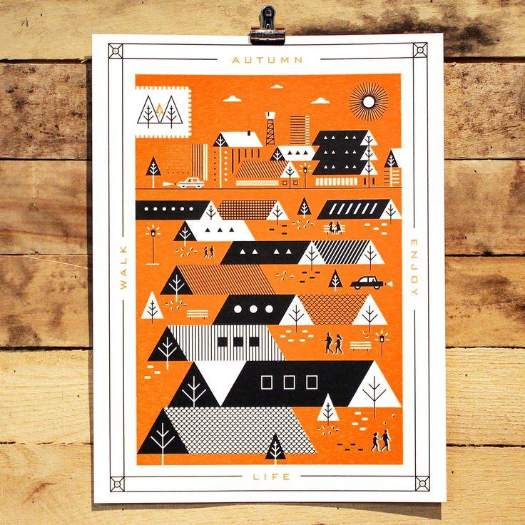 Autumn Poster by Martin Azambuja Holstee