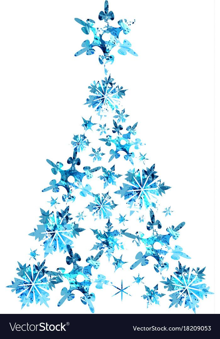 Abstract Blue Watercolor Christmas Tree Vector Image On Vectorstock Watercolor Christmas Tree Christmas Watercolor Blue Watercolor