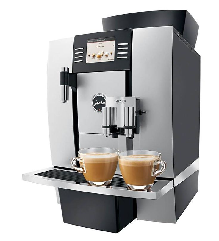"""Jura GIGA X3c Professional to doskonały kspres do dużego biura, korporacji, przestrzeni """"open space"""". Model z podłączeniem do wody, którego wydajność wynosi 3600 kaw miesięcznie."""