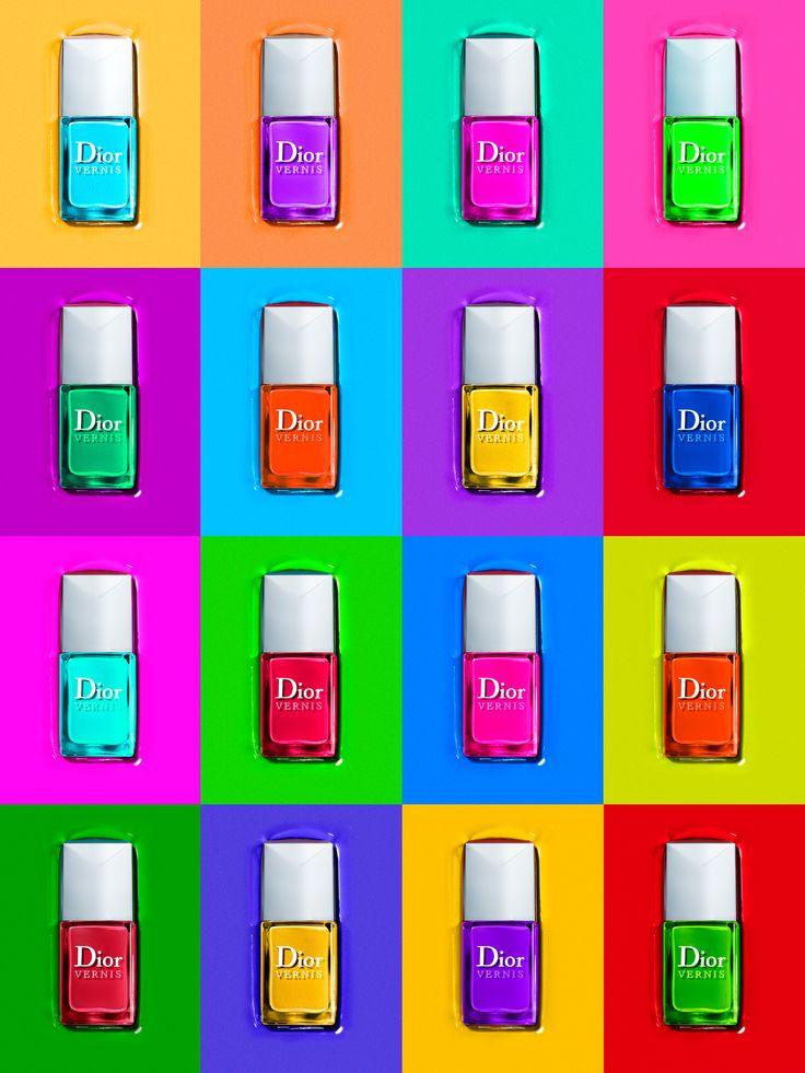 Photograph by Laziz Hamani. Dior, Nail Polish, Color, Palette, Fashion, Still Life, Advertising