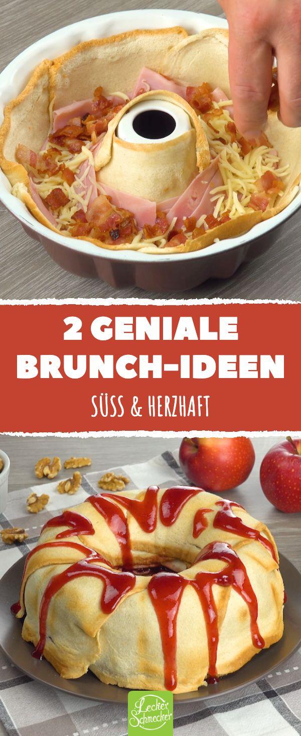 2 geniale Brunch-Ideen. Süß & herzhaft! #lecker #rezepte #brunch #frühstück ...