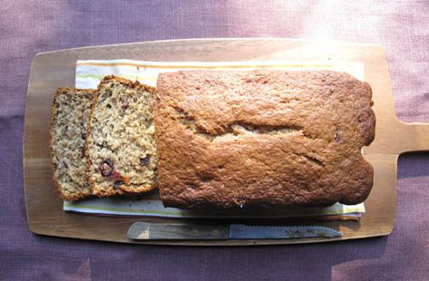 Banana and cranberry teabread recipe