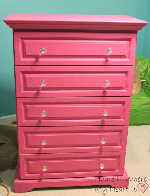 home is where my heart is a pretty pink dresser knobs from wally color is valspar ultra rose. Black Bedroom Furniture Sets. Home Design Ideas