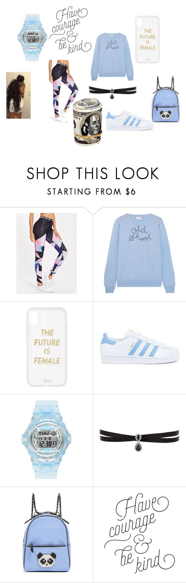 """""""School 15"""" by princessladybug07 on Polyvore featuring Lingua Franca, Sonix, adidas, Baby-G, Fallon and Les Petits Joueurs"""